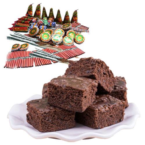 Delightful Brownie n Assorted Crackers