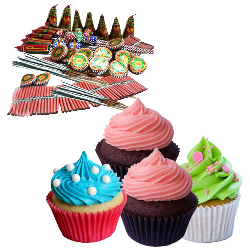Mouthwatering Cup Cakes nd Diwali Crackers