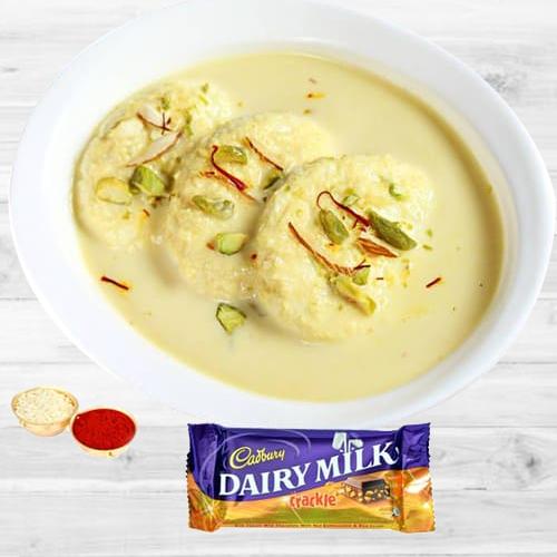 Rasmalai N Cadbury Crackle Combo