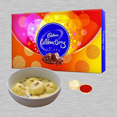 Rasmalai N Cadbury Celebrations Combo