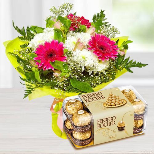Flowers and Ferroro Rocher