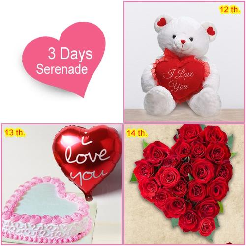 Send 3 Day Serenade Hamper for V-day