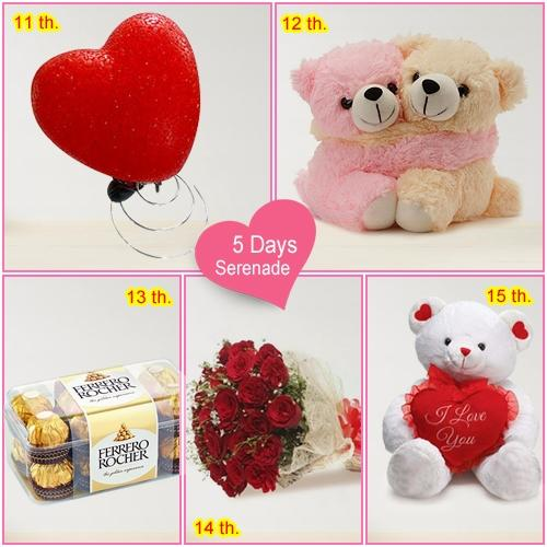 Exotic 5-Day Serenade Gift for Lady Love