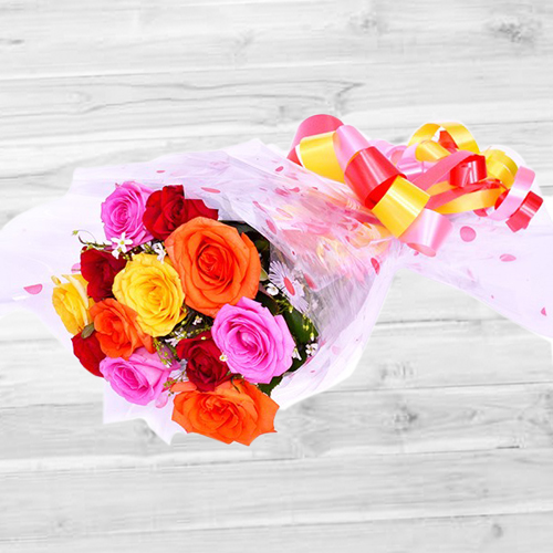 Buy Mixed Roses Bouquet Online