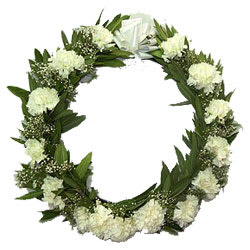 Book Online  Carnations Wreath