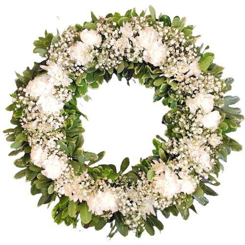 Book Online  Carnations Wreath