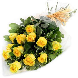 Order Online Bouquet of Yellow Roses