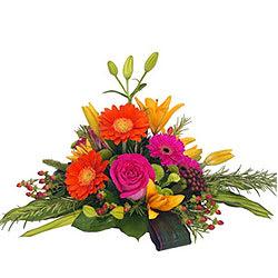 Gift Basket of Roses, Gerberas N Lilies Online