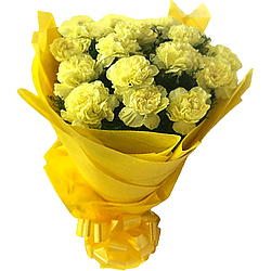 Book Online Yellow Carnations Bouquet