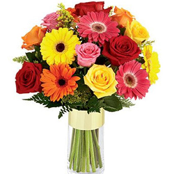 Deliver Mixed Flowers in a Vase Online