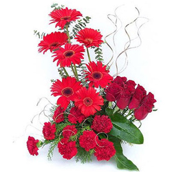 Gift Online Arrangement of Mixed Flowers