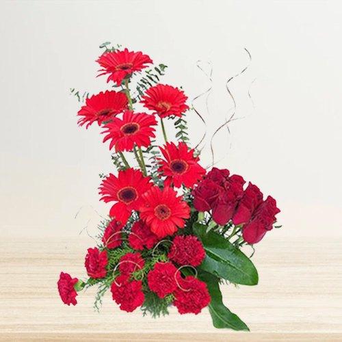 Gift Online Arrangement of Mixed Flowers