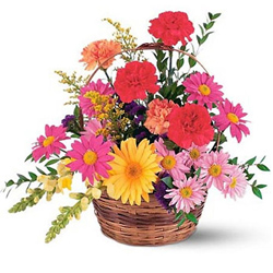 Send Online Gerberas N Carnations Basket