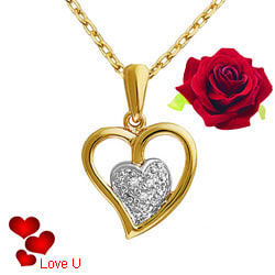 Classic Heart Shaped Golden Pendant