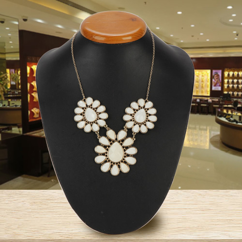 Women's Pride Avon Floral Floral Cluster Drama Necklace