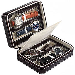 Genuine Leather Watch Case (for 4 watches) from Leather Talk