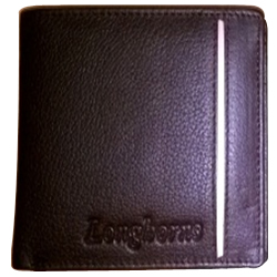 Exquisite Longhorn Leather Wallet for Men in Black Colour