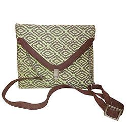 Amazing Spice Art Canvas Green Ladies Handbag