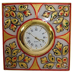 Decorative Square Table Marble and a Clock<br>