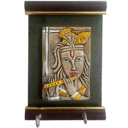Classic Lord Krishna Wall Key Hooks Rack