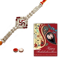 Graceful 1 Swastic Design Rakhi