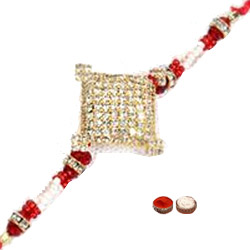 Superb 1 Diamond Shape Rakhi