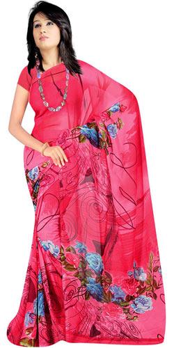 Impressive Desi Collection of Georgette Printed Suredeal Saree