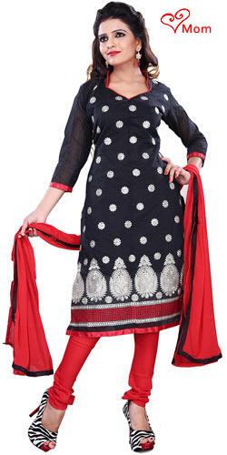 Remarkable Women's Black Cotton Printed Salwar