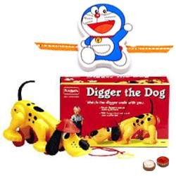 Free Rakhi, Roli Tilak and Chawal for Kids with  Funskool Diggler Dog Toy Set