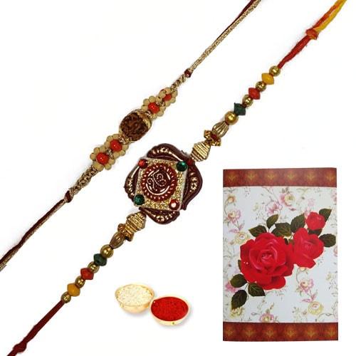 Dashing Collection of 2 Ethnic Designer Rakhi