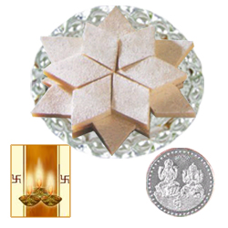 Kaju Katli with Silver Plated Coin