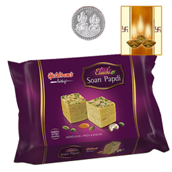 Haldiram Soan Papdi l with Silver Plated Coin