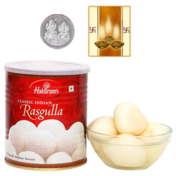 Haldiram Rasgulla with Silver Plated Coin
