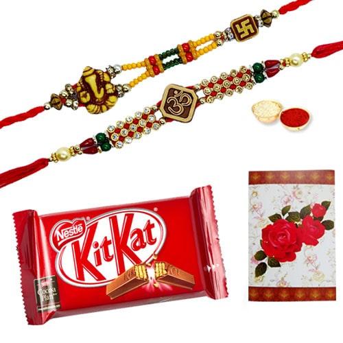 Exclusive 2 or More Designer Ethnic Rakhi and Chocolates with Celebration