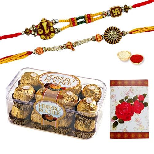 Delicious Ferrero Rocher Box with Rakhi