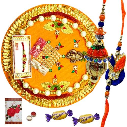 Refreshing Bhaiya Bhabhi Raksha Bandhan with Thali and 2 Chocos