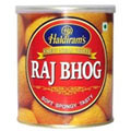 Tasty 1 Kg. Haldirams Rajbhog Pack with Celebration