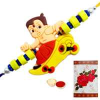 1 Kids Rakhi with Roli Tika<br /><font color=#0000FF>Free Delivery in USA</font>