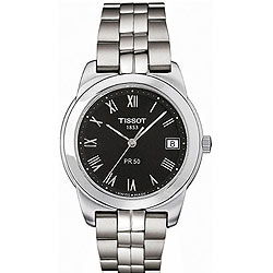 Delightful brushed with polished stainless steel bracelet timepiece for men from Tissot