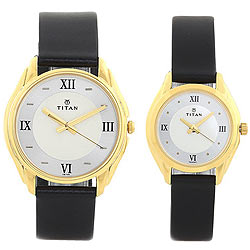 Elegant Round Dial Pair Watch from Titan