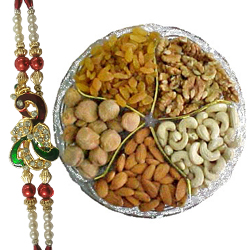 Elegant Adoration of Dry Fruits and Rakhis with Alluring Affection