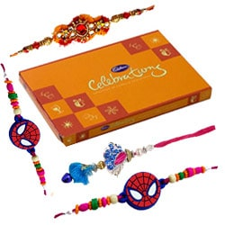 Lip-Smacking Chocolates with Rakhi set and Rakhi