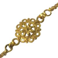 Impressionable 24 Carat Gold Plated Designer 1 Rakhi for Auspicious Occasion