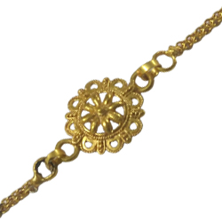 Fancy Rakhi of 24k Gold Plated