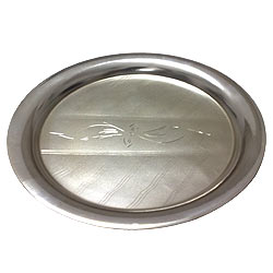 Silver Plated Thali for Puja